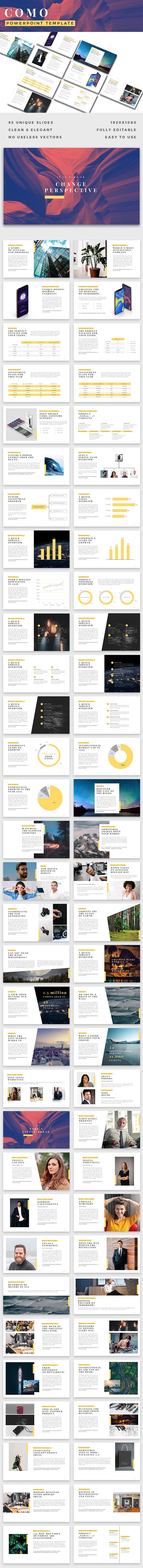Como Premium Powerpoint Template - PowerPoint Templates Presentation Templates