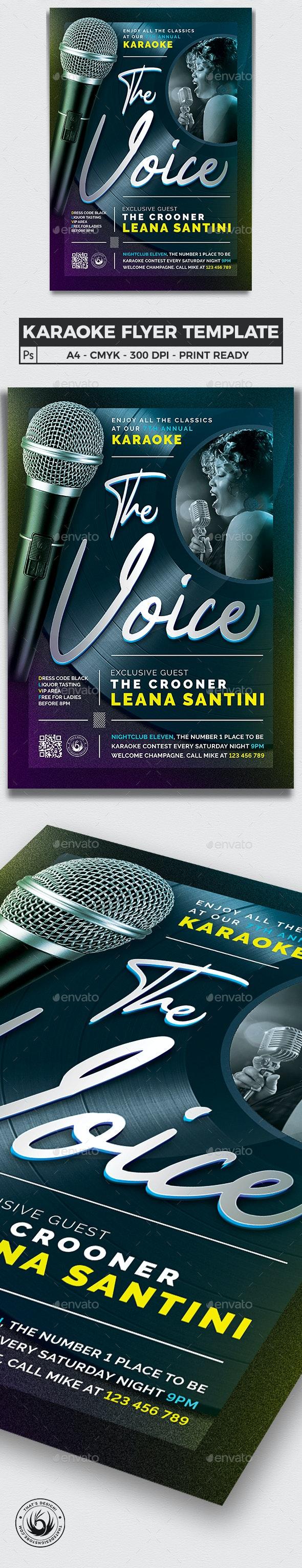 Karaoke Flyer Template V10 - Concerts Events