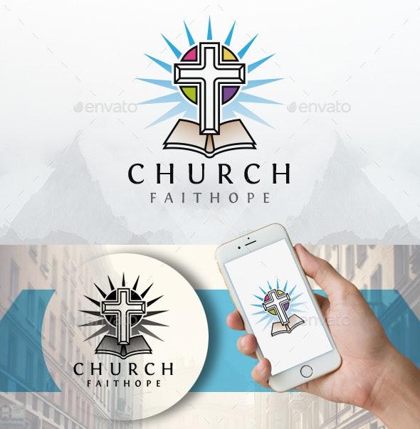 Modern Church Bible Logo - Symbols Logo Templates