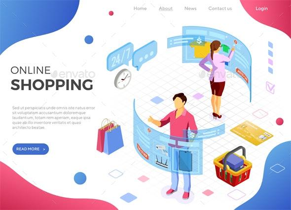 Isometric Virtual Augmented Reality Shopping - Web Technology