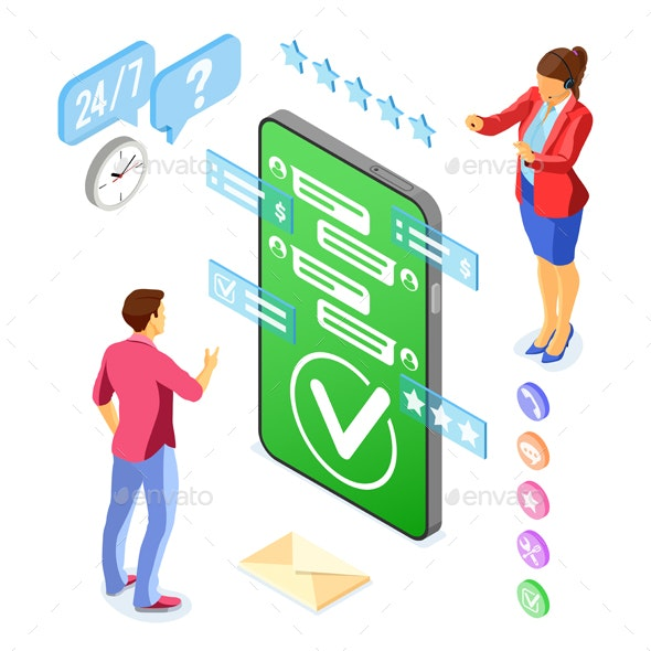 Isometric Online Customer Support - Web Technology