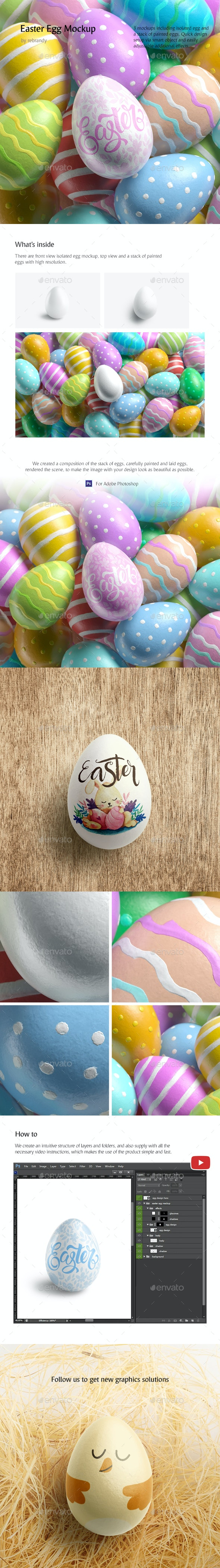 Easter Egg Mockup - Product Mock-Ups Graphics