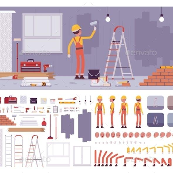 Repair of Apartments Workplace Interior