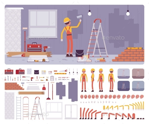 Repair of Apartments Workplace Interior - Industries Business