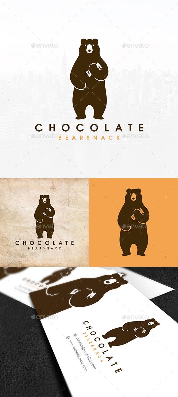 Bear Chocolate Snack Logo - Animals Logo Templates