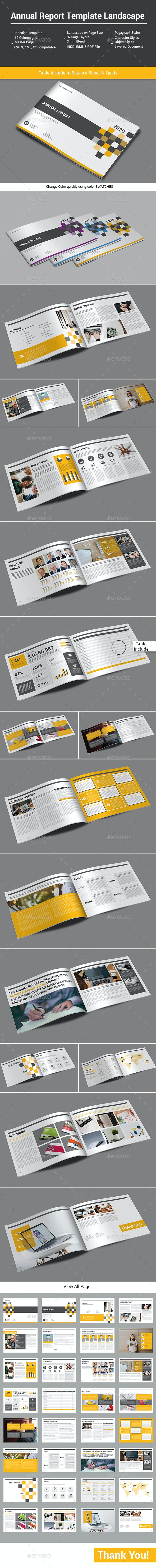 Annual Report Template Landscape - Informational Brochures
