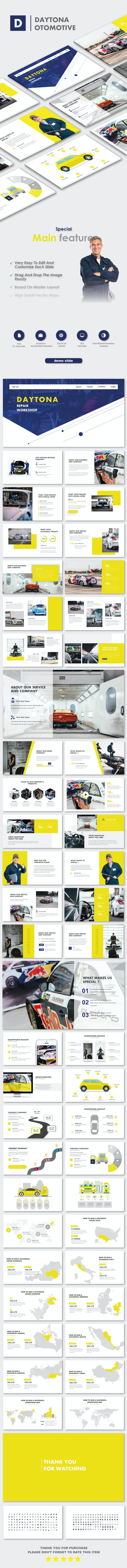 Daytona Otomotive PowerPoint Templates - Creative PowerPoint Templates