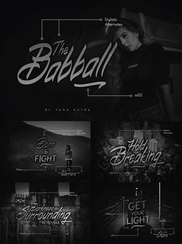 Babball Handwritten & Display Font Duo - Hand-writing Script