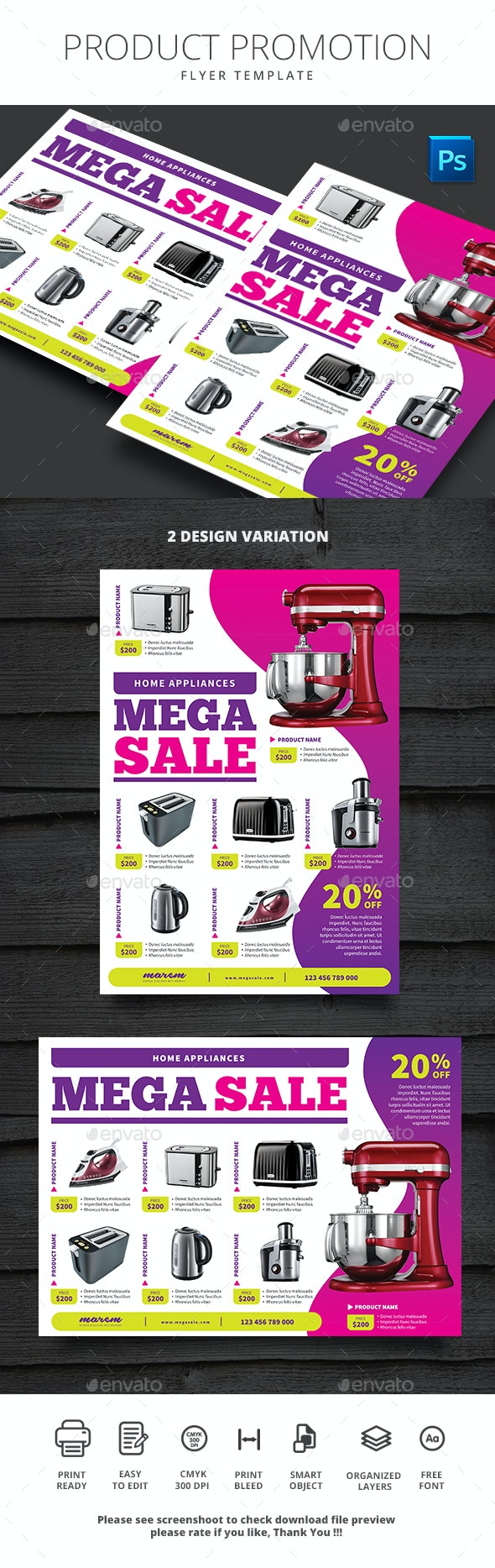 Product Promotion - Flyers Print Templates