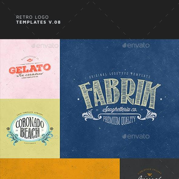 Retro Logo Templates V.08