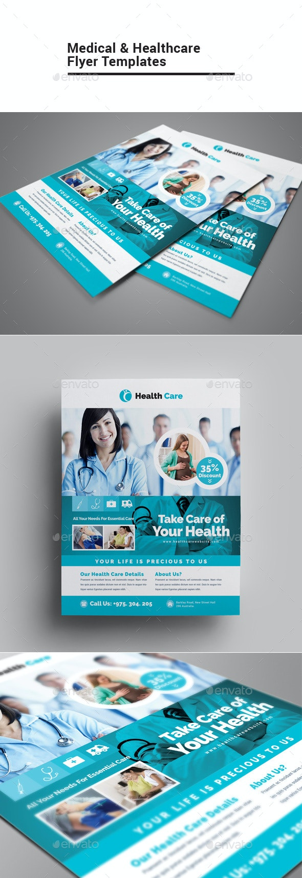 Medical & Healthcare Flyer - Corporate Flyers