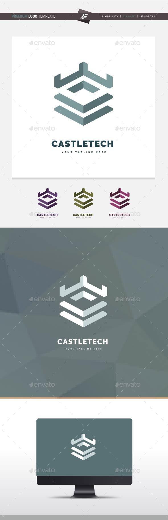 Castle Tech Logo - Buildings Logo Templates