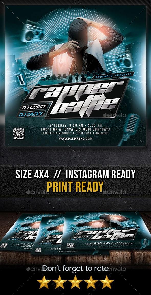 Rapper Battle Flyer - Clubs & Parties Events