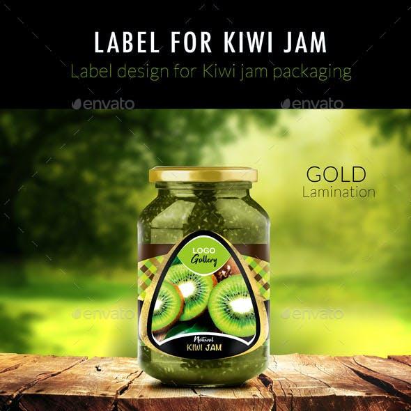 Label of Kiwi Jam