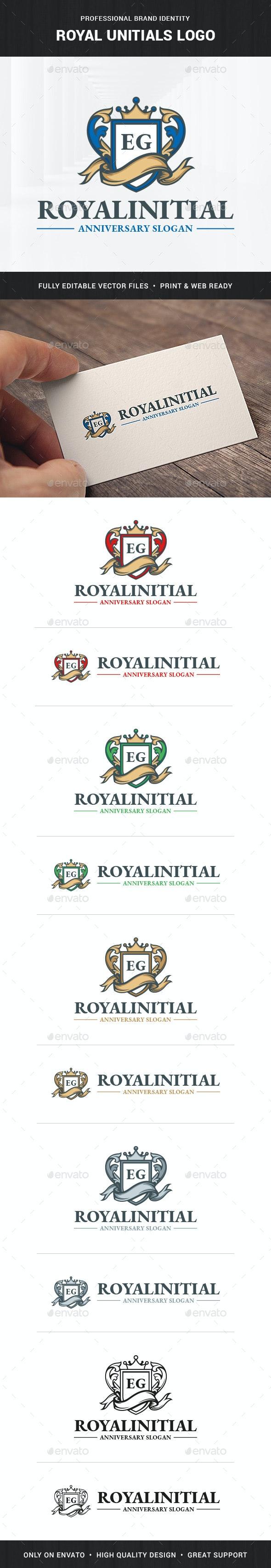 Royal Initials Logo Template