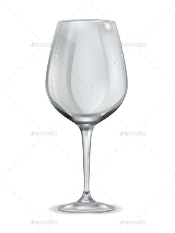 Empty Wineglass - Food Objects