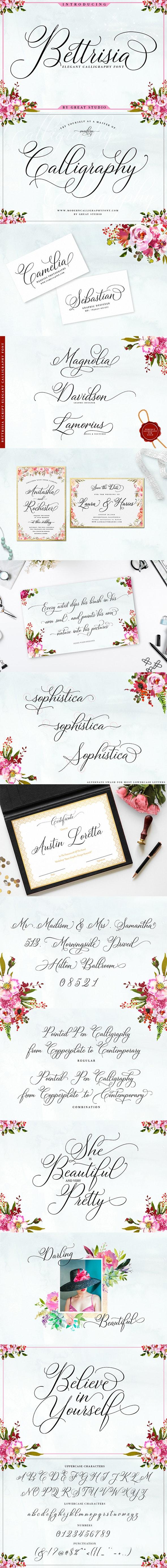 Bettrisia Script - Calligraphy Script