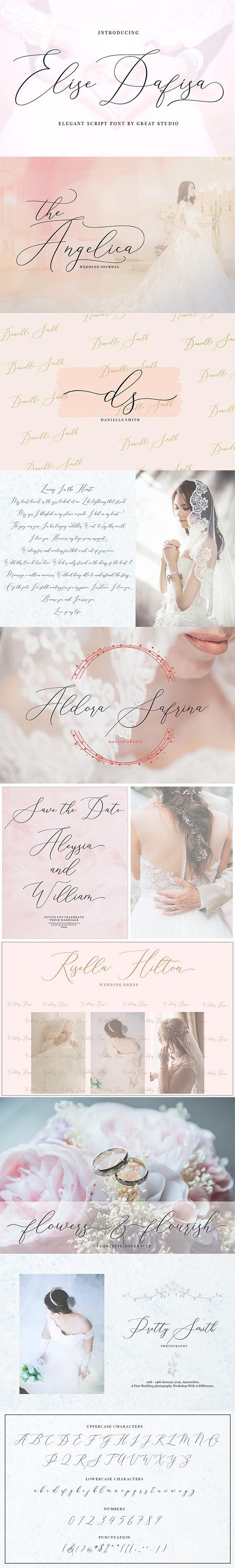 Elise Dafisa - Elegant Script Font - Calligraphy Script