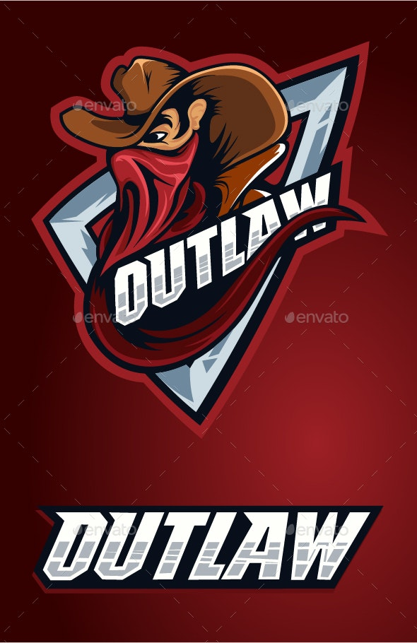 Outlaw Cowboy in Red - Decorative Symbols Decorative