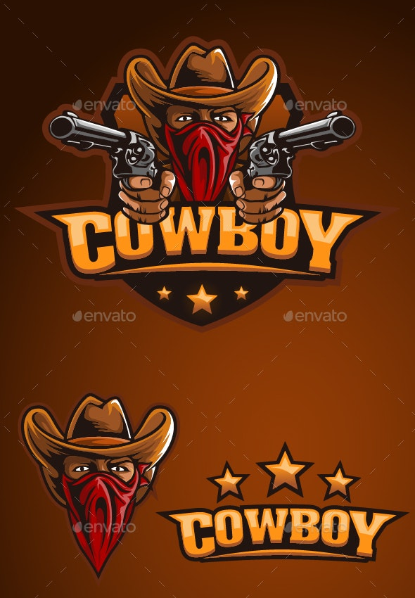 Cowboy Outlaw Mascot - Decorative Symbols Decorative