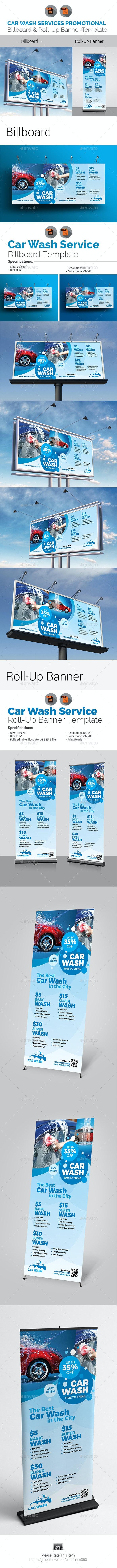 Car Wash Signage Bundle - Signage Print Templates