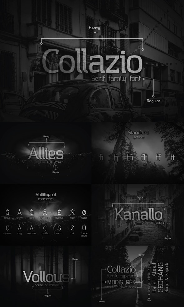 Collazio Serif Family Typeface - Serif Fonts