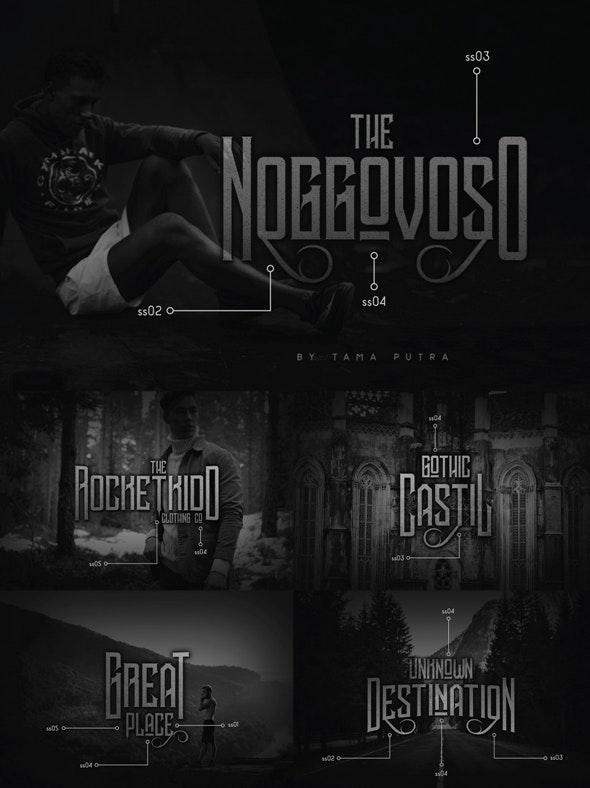 Noggovoso Decorative Display Font - Gothic Decorative