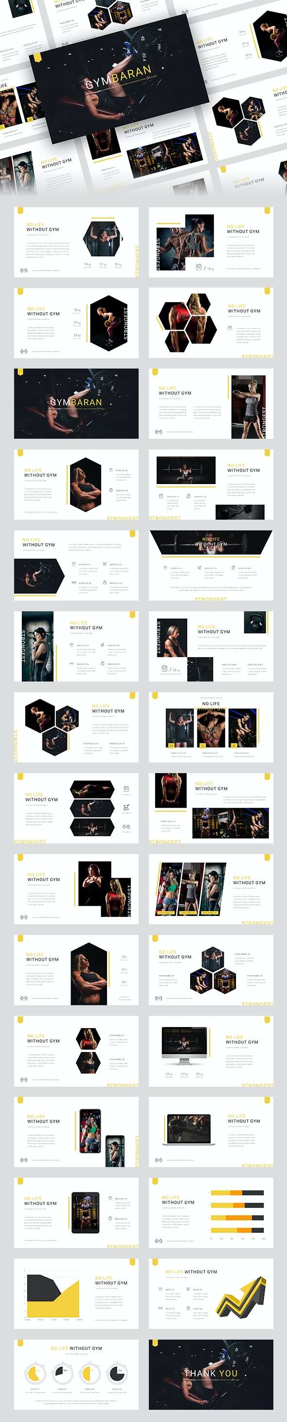 Gymbaran - Gym PowerPoint Template - Business PowerPoint Templates