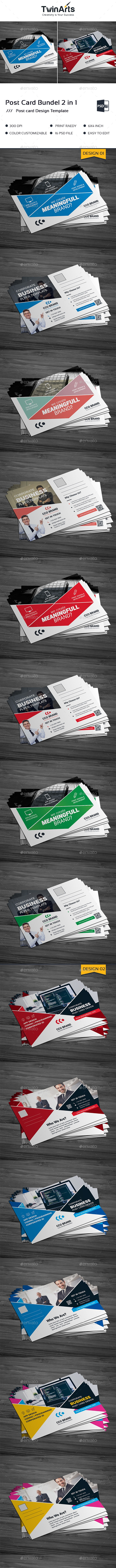 Post Card Bundle_2 in 1 - Cards & Invites Print Templates