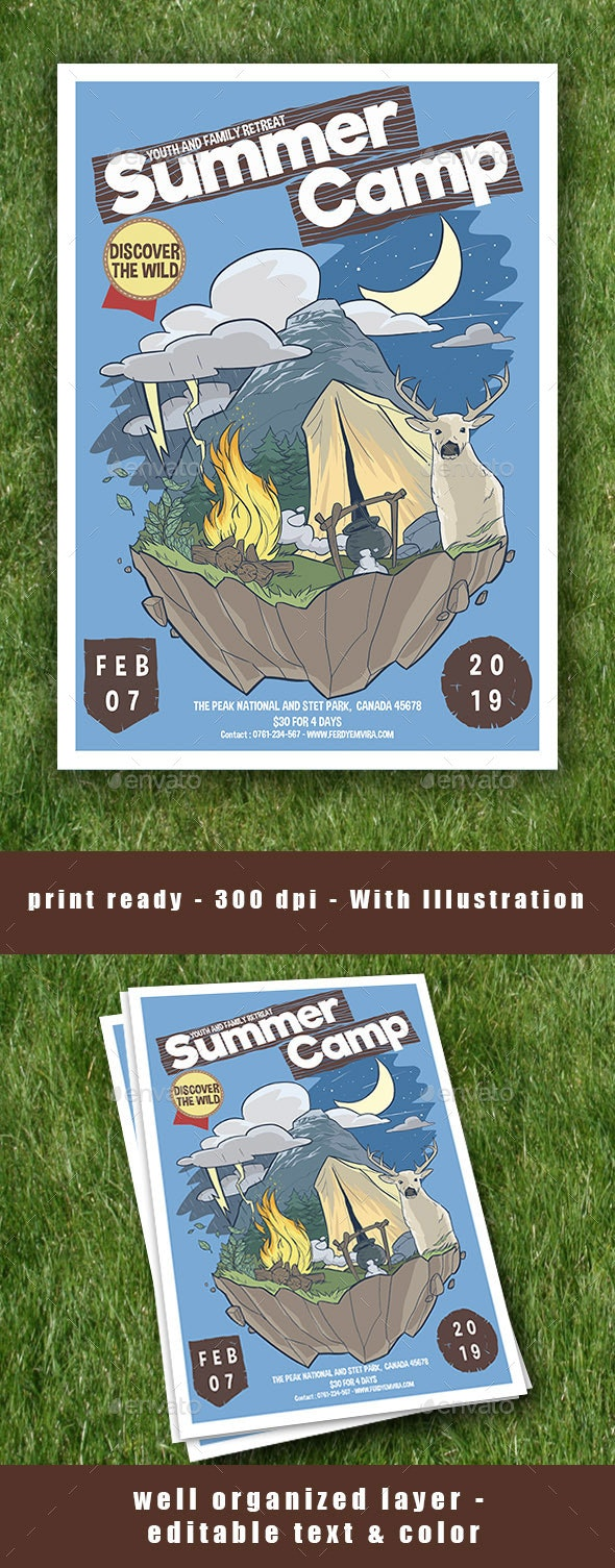 Summer Camp Flyer Poster - Events Flyers