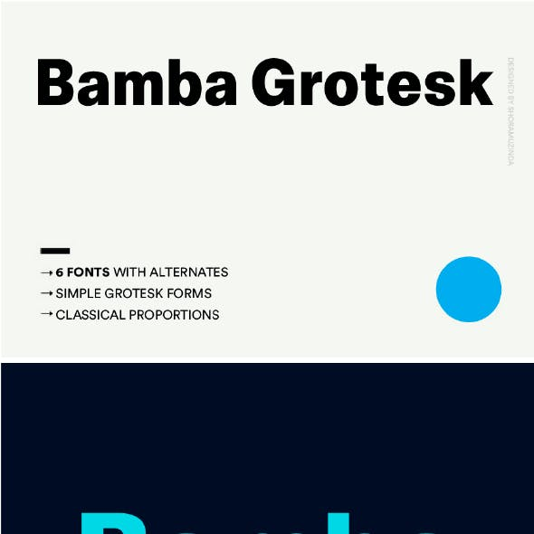 Bamba Grotesk Sans Serif Font