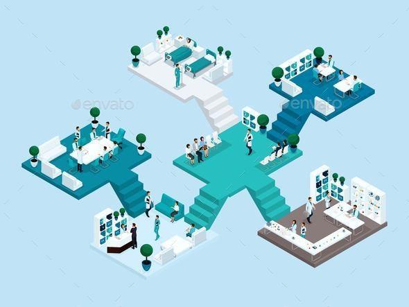 Isometrics Hospital - People Characters