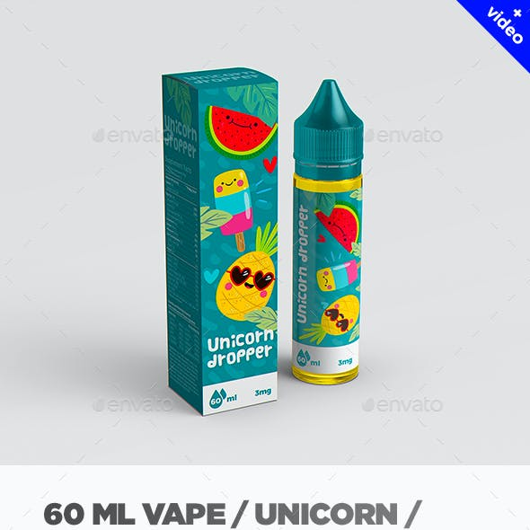 Vape / Unicorn Dropper Bottle MockUp