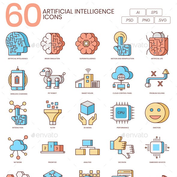 Artificial Intelligence Icons - Honey Series