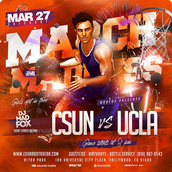 March Madness Basketball Sports Flyer