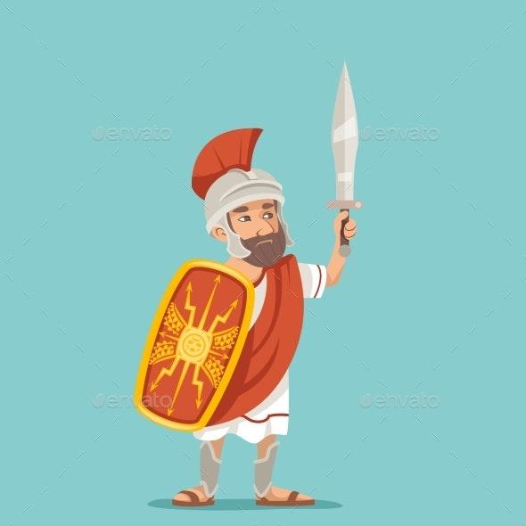 Legionnaire Sword Shield Warrior Soldier Greek - People Characters
