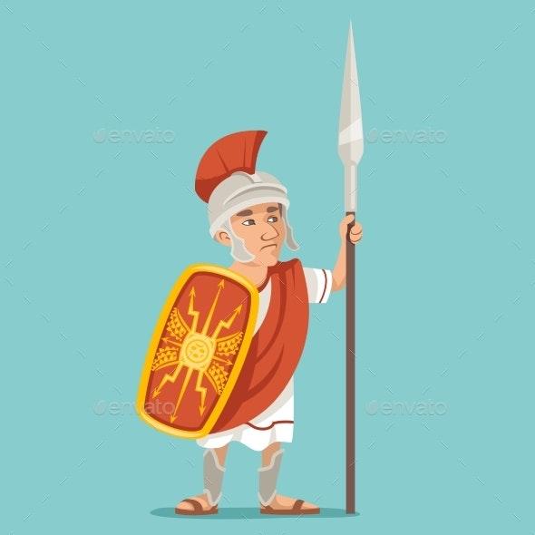 Spearman Legionnaire Warrior Soldier - People Characters