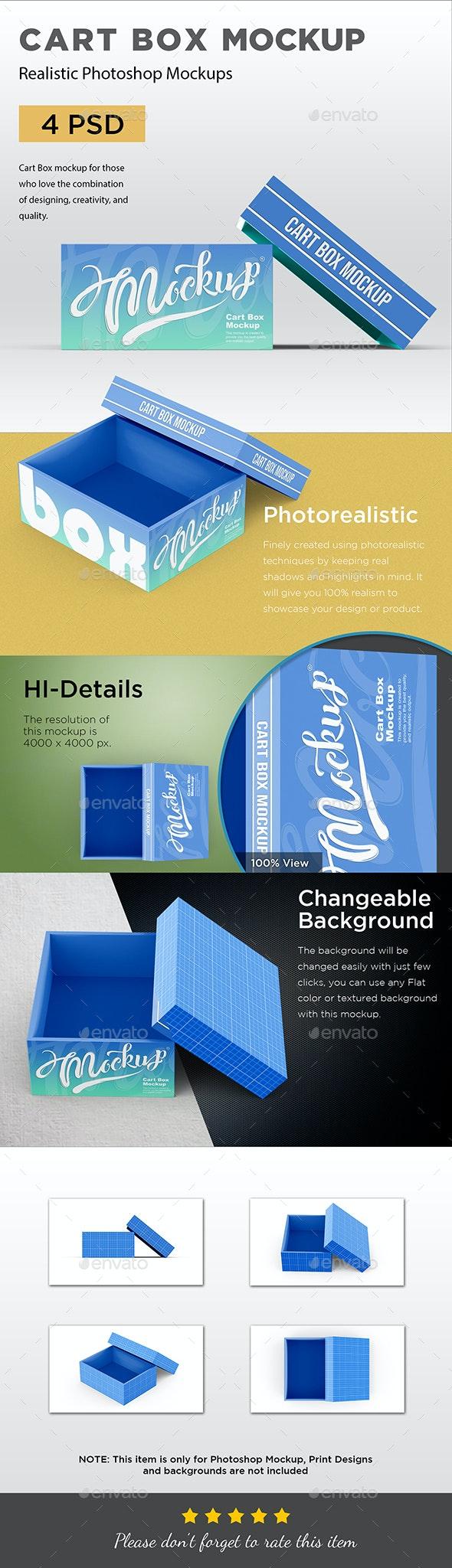 Cart Box Mockup - Miscellaneous Packaging