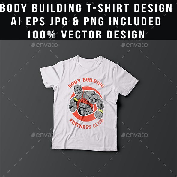 Bodybuilding t-shirt design