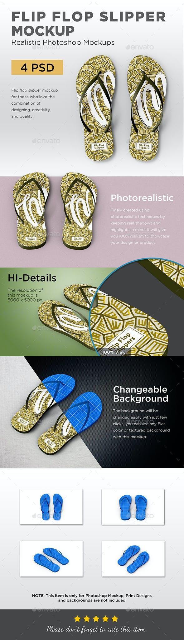 f3a0da073a2d Flip Flop Slipper Mockup by graphicdesigno