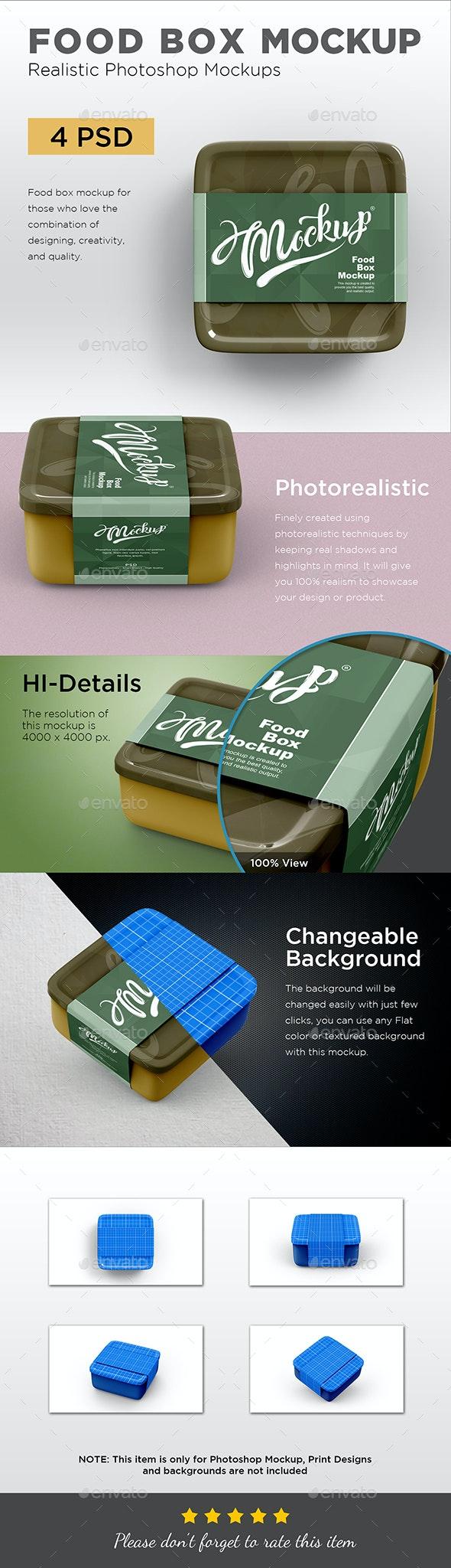 Food Box Mockup - Miscellaneous Print
