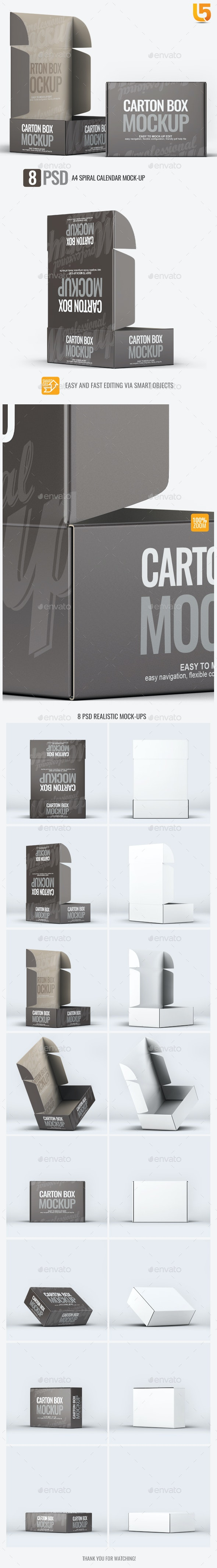 Carton Box Mock-Up - Miscellaneous Packaging