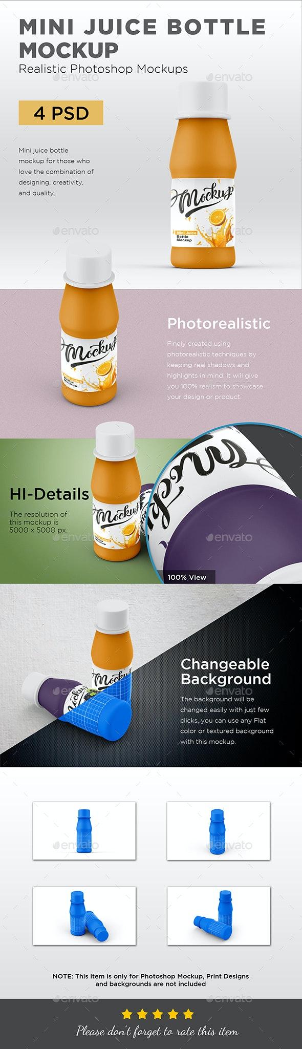 Mini Juice Bottle Mockup - Packaging Product Mock-Ups