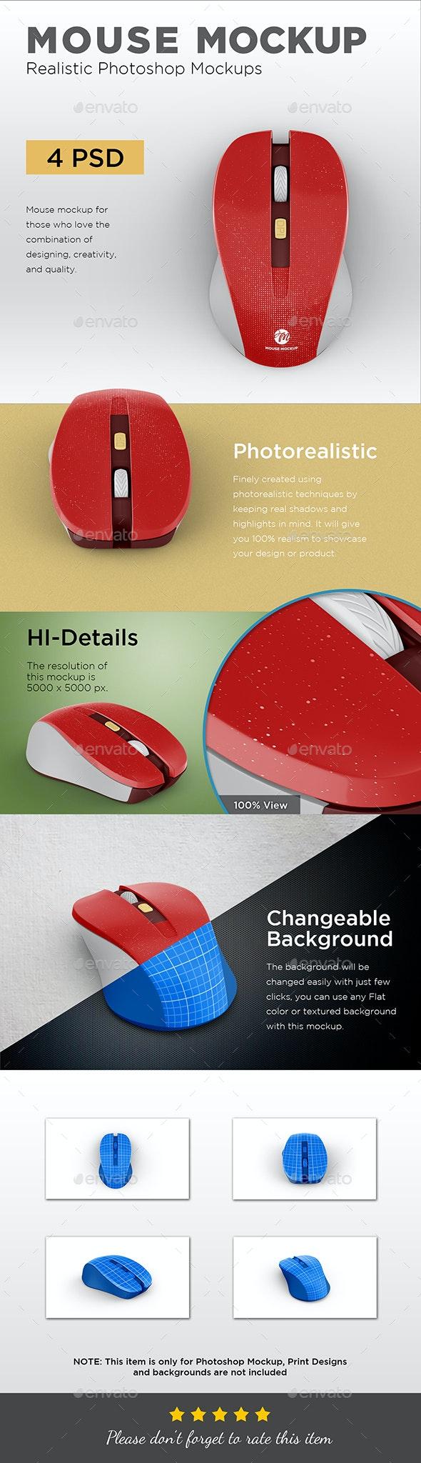 Mouse Mockup - Displays Product Mock-Ups