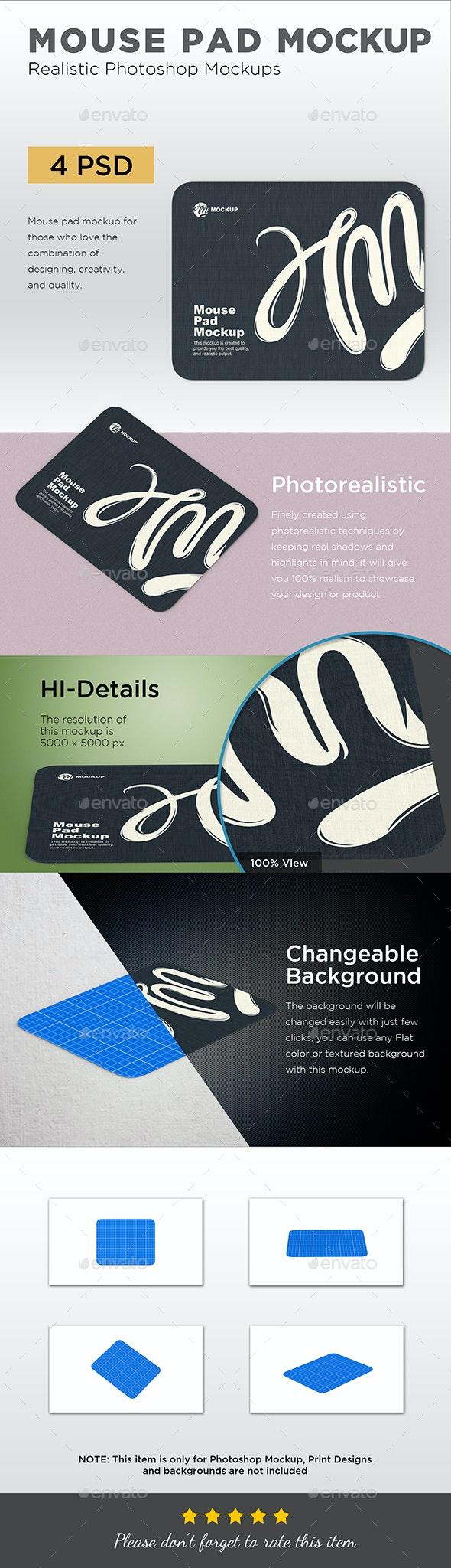 Mouse Pad Mockup - Displays Product Mock-Ups