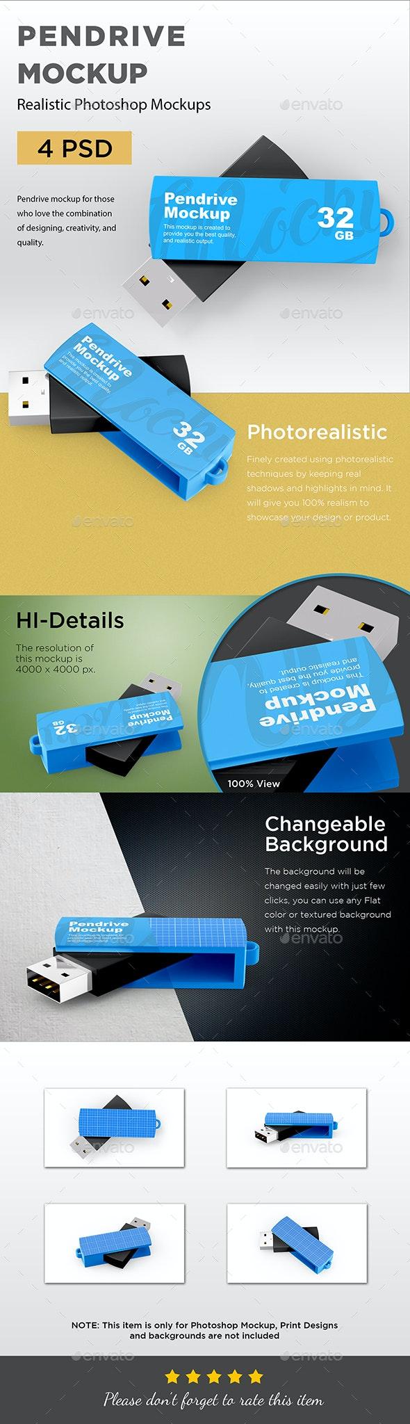 Pen Drive Mockup - Displays Product Mock-Ups