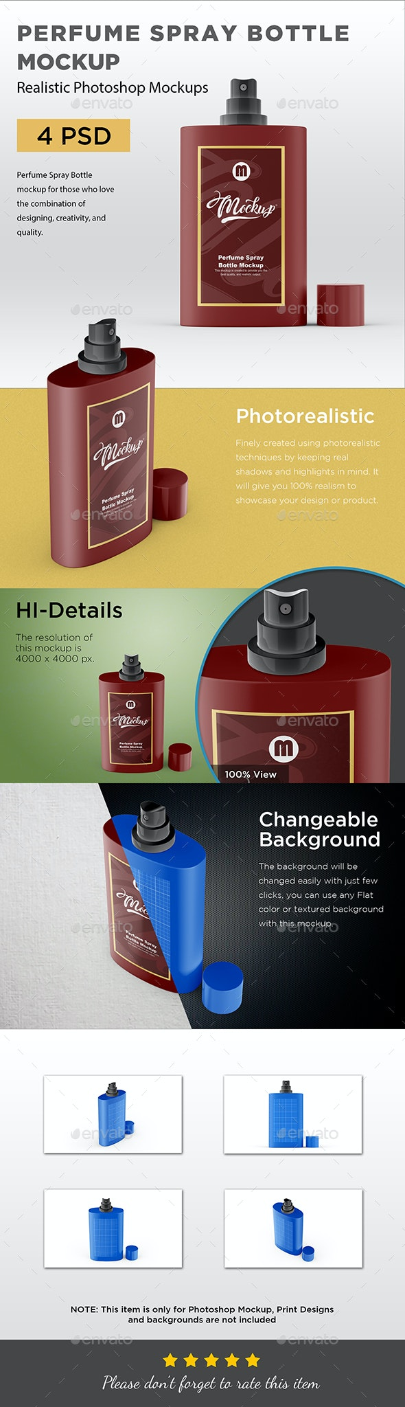 Perfume Spray Bottle Mockup - Packaging Product Mock-Ups