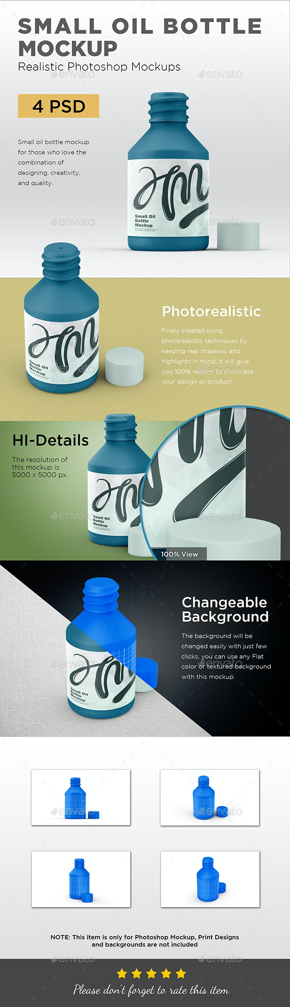 Small Oil Bottle Mockup - Packaging Product Mock-Ups