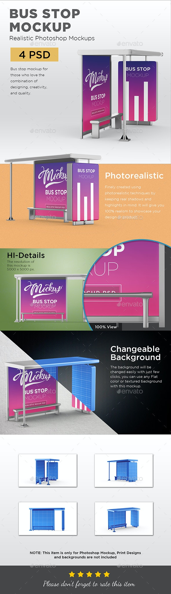 Bus Stop Mockup - Print Product Mock-Ups