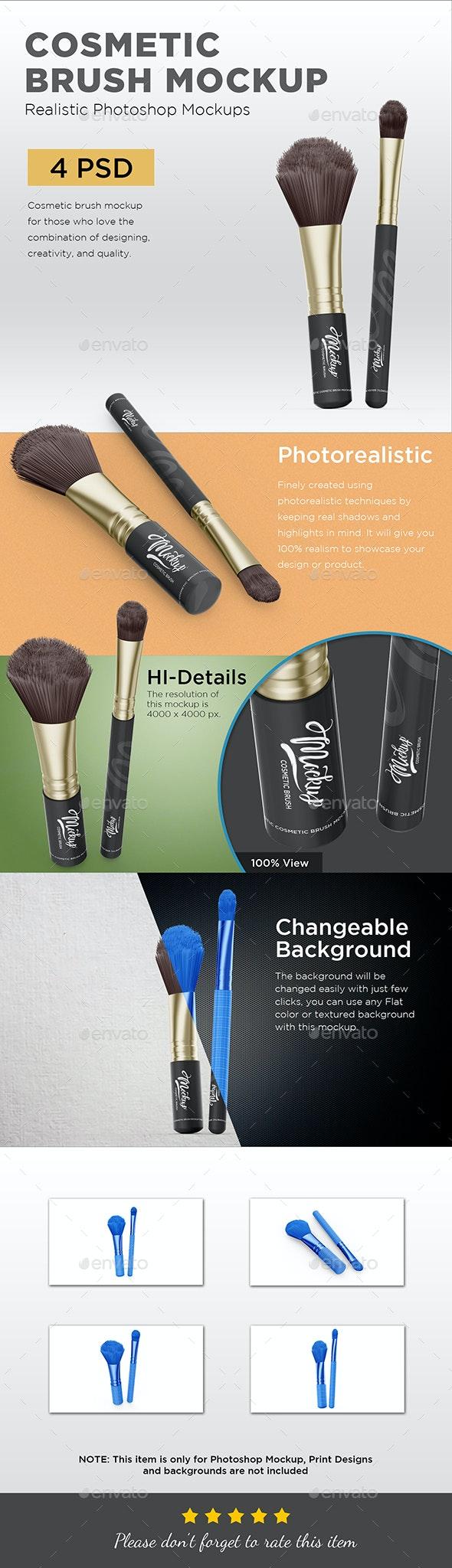 Cosmetic Brush Mockup - Beauty Packaging